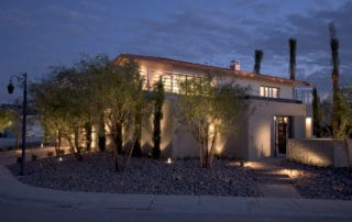 New American Home Night Exterior