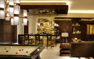 Custom Home At Macdonald Highlands Entertainment Room
