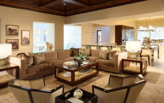 Custom Home At Macdonald Highlands Living Room
