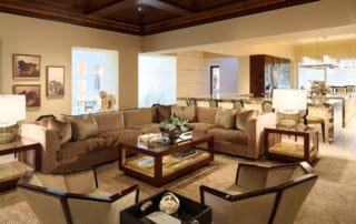 Custom Home At Macdonald Highlands Living Room