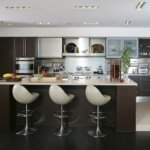 Private Residence At Park Towers Condominiums Kitchen And Island