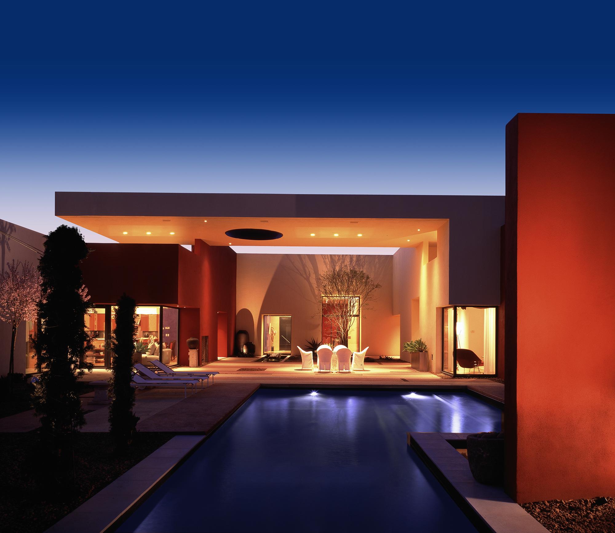 Custom Home At The Hills Exterior At Night