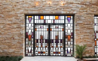 Custom Home At The Ridges Stained Glass Door