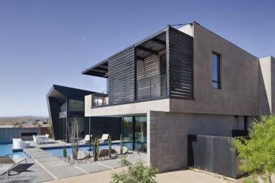 Custom Home At The Ridges Backyard Angle