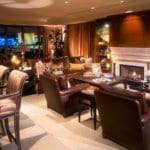 Private Residence At Park Towers Living Room Fireplace