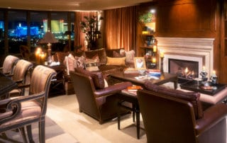 Custom Home - Private Residence At Park Towers Living Room Fireplace