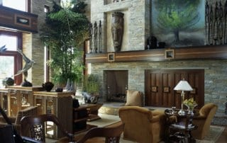 Custom Home At Tournament Hills Living Room With Fireplace
