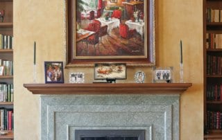 Private Residence At Southern Highlands Fireplace