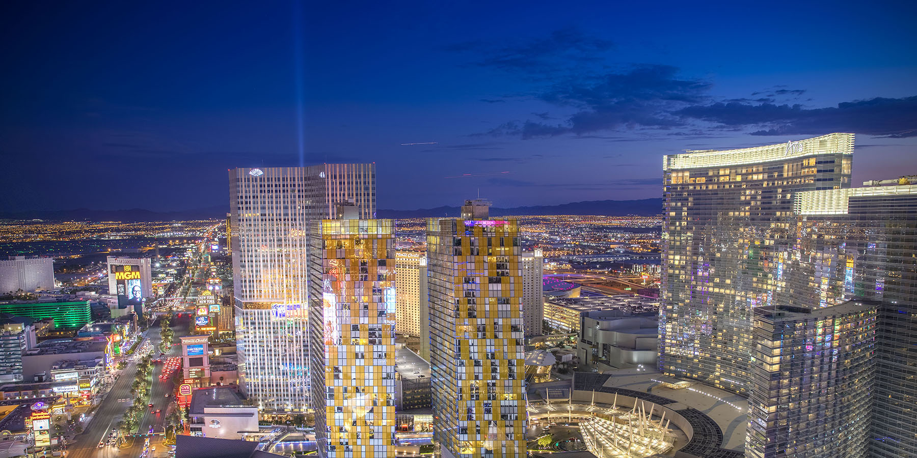 Merlin Contracting Veer Towers Las Vegas Skyline