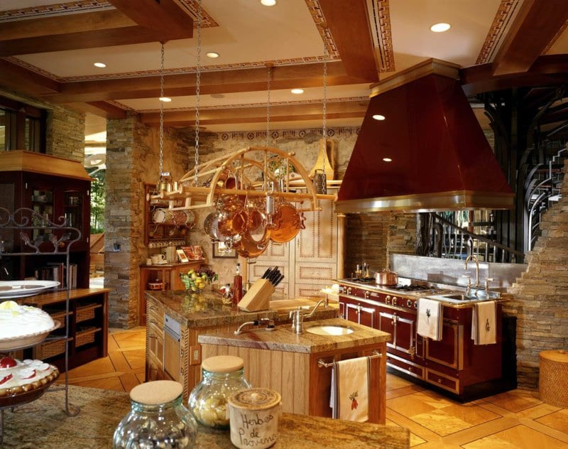 Kitchen of a Custom Home built by Merlin at Tournament Hills in Las Vegas
