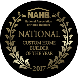 Winner of the 2017 National Custom Home Builder of the Year