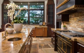 Custom Home and Pool House at The Ridges Kitchen and View