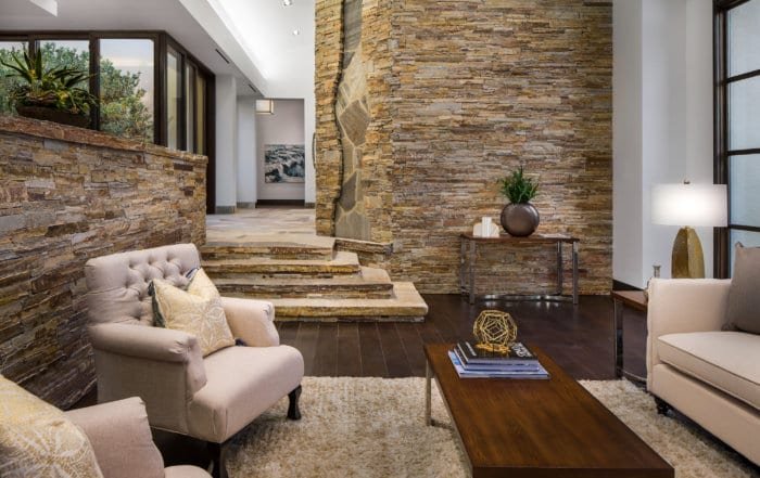 Custom Home and Pool House at The Ridges Living Room