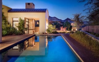 Custom Home and Pool House at The Ridges Swimming Pool