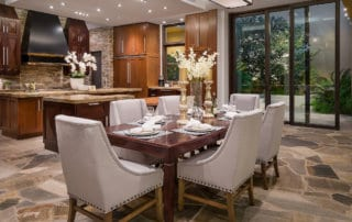 Custom Home and Pool House at The Ridges Dining Room in the Ridges