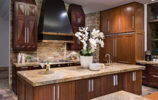 Custom Home and Pool House at The Ridges Kitchen Island