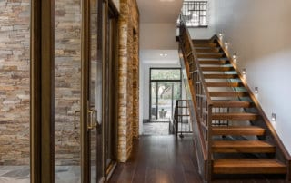 Custom Home and Pool House at The Ridges Floating Staircase