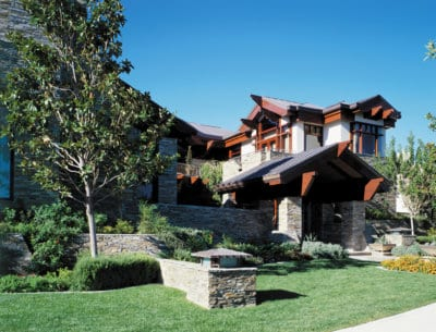 Custom Home at Tournament Front Exterior