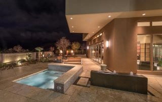 Custom Home and Pool House at the Ridges