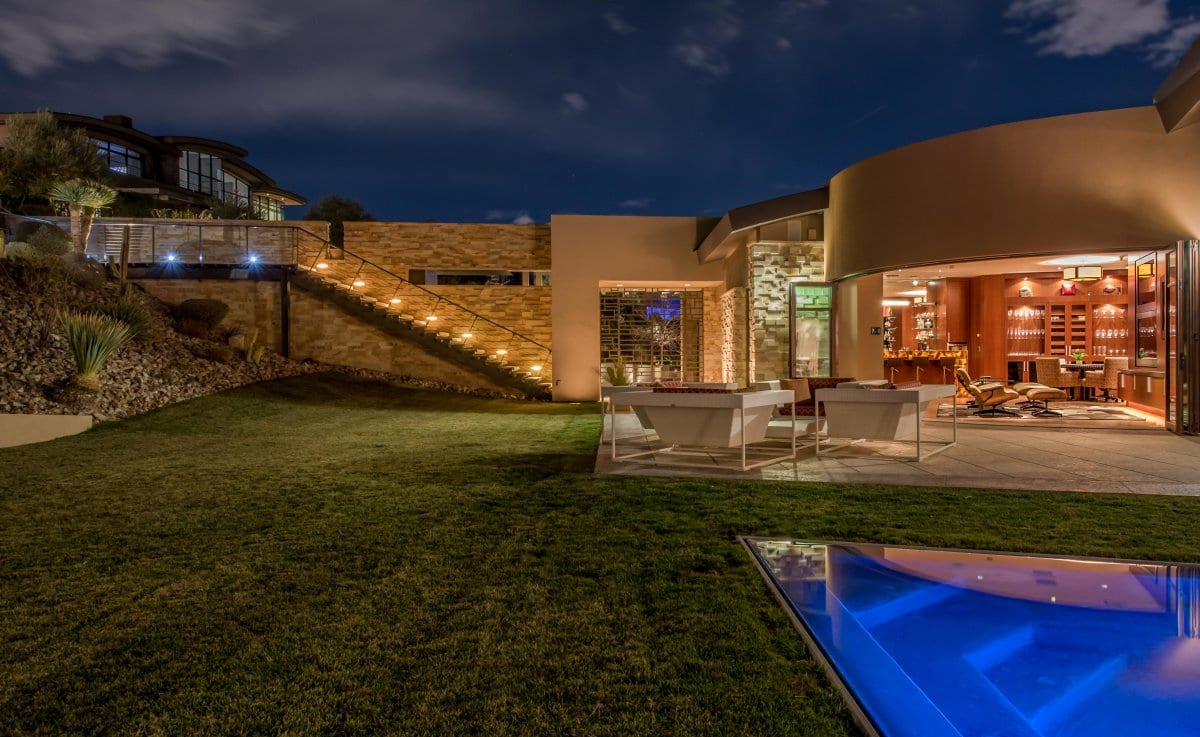 Outdoor Lighting Custom Home Las Vegas