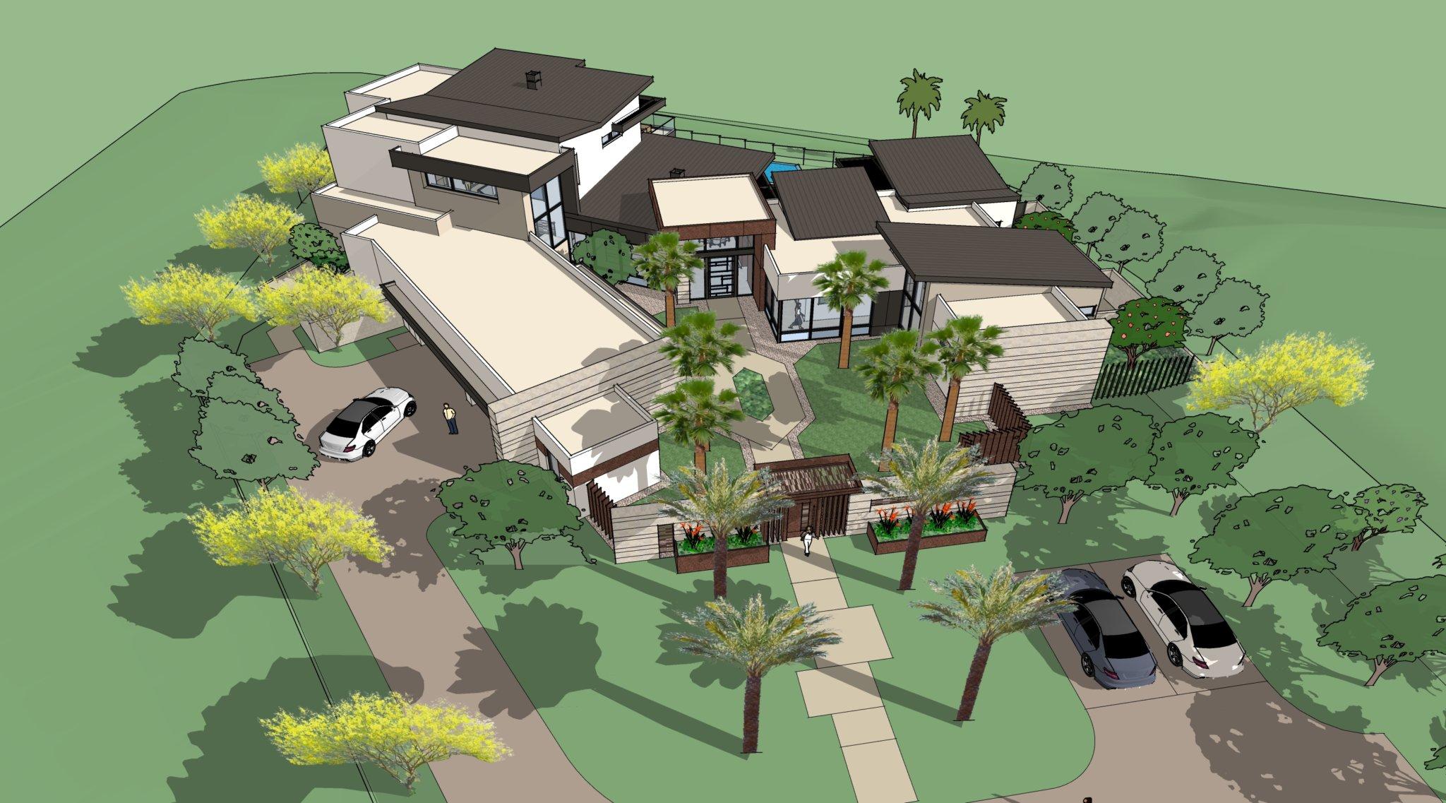 Custom Home Rendering at The Summit. Merlin Custom Home Builders.
