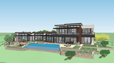 Custom Home Rendering at The Summit. Merlin Custom Home Builders.