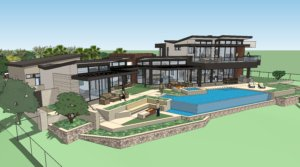 Custom Home Rendering at The Summit