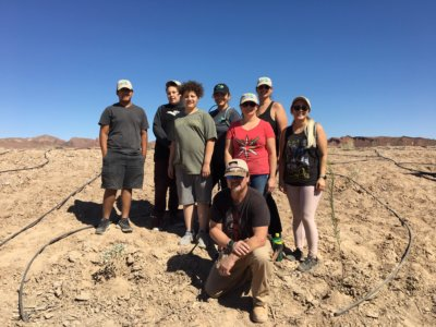Merlin Team Volunteers at the Fall Las Vegas Wash Green-Up