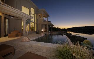 Lake Las Vegas Custom Home - Merlin Custom home Builders - NightPool
