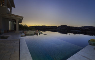 Lake Las Vegas Custom Home - Merlin Custom home Builders - Sunset Pool