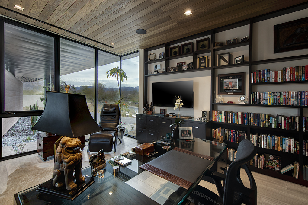 Terra Summit Home Office - The Summit Las Vegas - Merlin Custom Home Builders